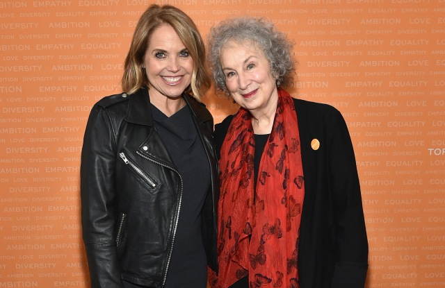 NEW YORK, NY - APRIL 24:  Journalist Katie Couric and Writer Margaret Atwood attend The Tory Burch Foundation 2018 Embrace Ambition Summit at Alice Tully Hall on April 24, 2018 in New York City.  (Photo by Mike Coppola/Getty Images for Tory Burch Foundation)