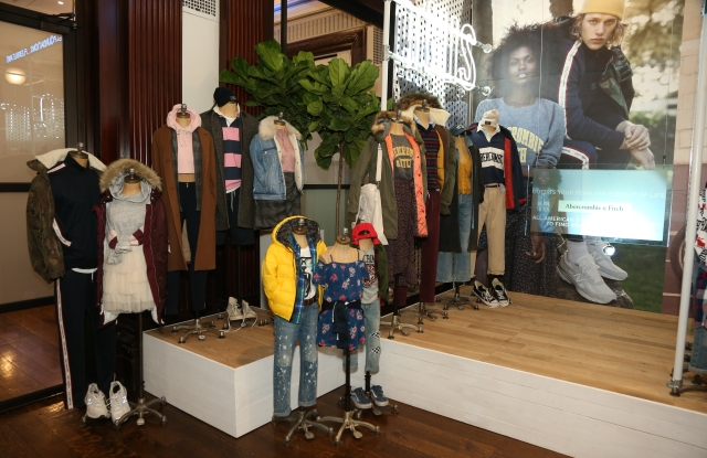 Looks from the core Abercrombie & Fitch brand.