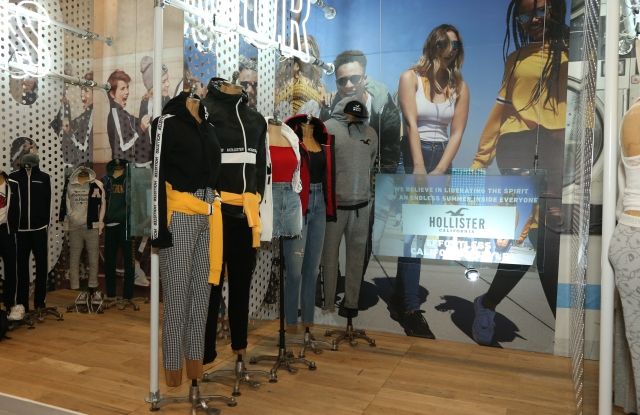 The Hollister display at the 2018 Investor Day presentation.