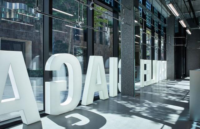 A view of the new Balenciaga boutique in the Miami Design District.
