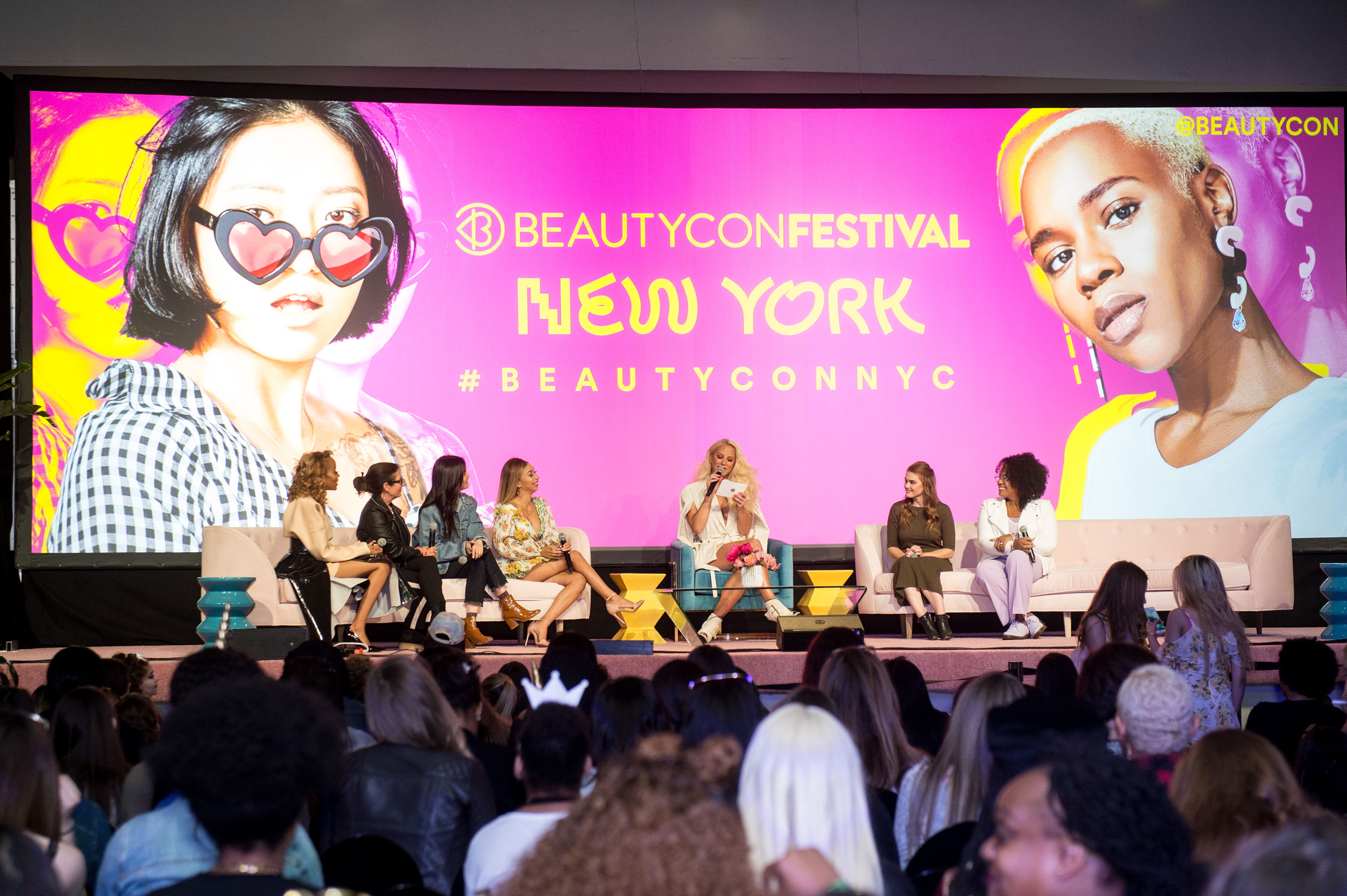 The scene at Beautycon.
