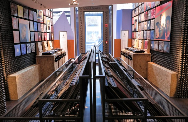 The men's store was converted into an Hermes record shop.