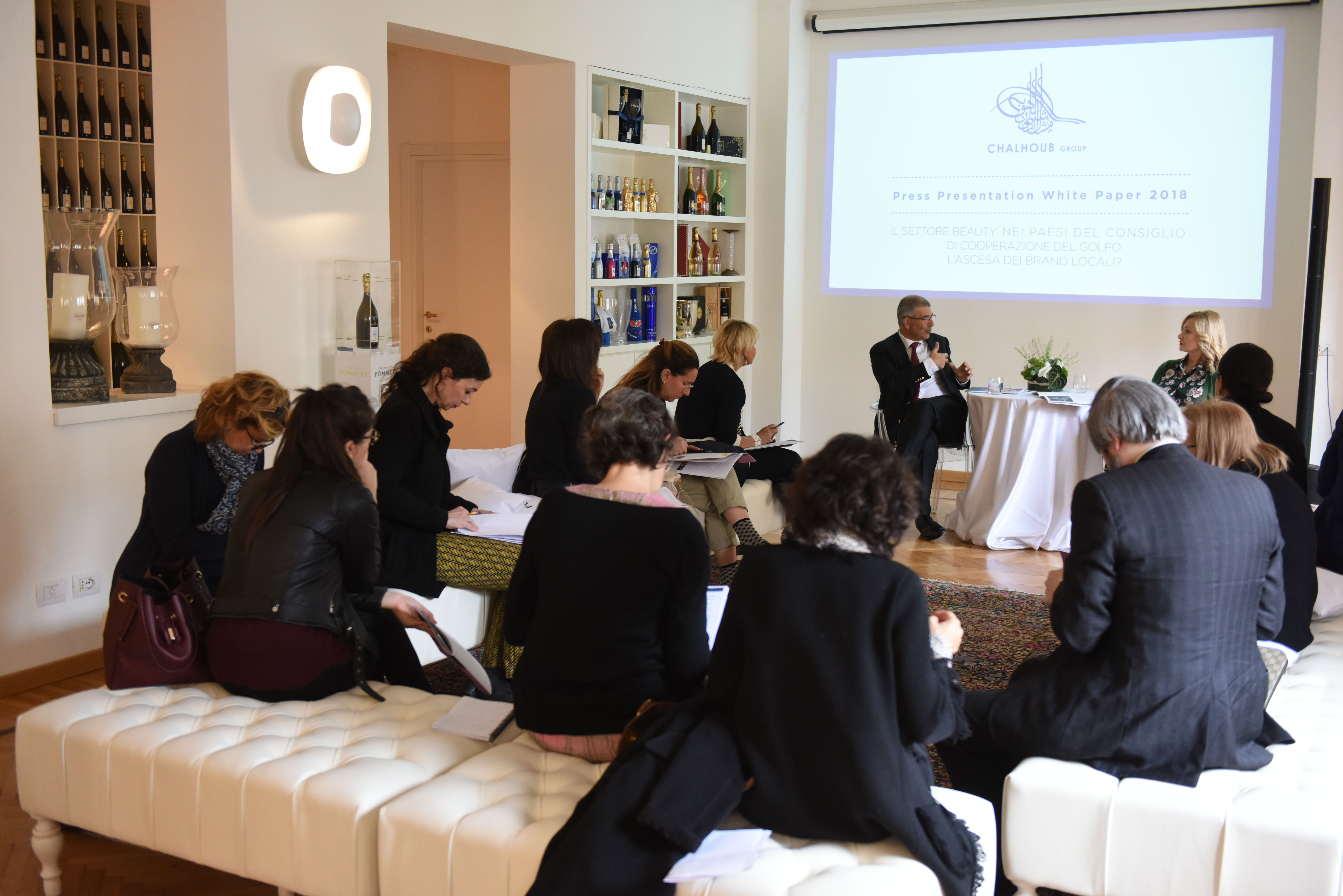 Chalhoub Group's sixth white paper study presentation in Milan.