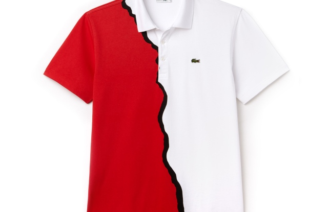 An all-over print polo from the 1990s.