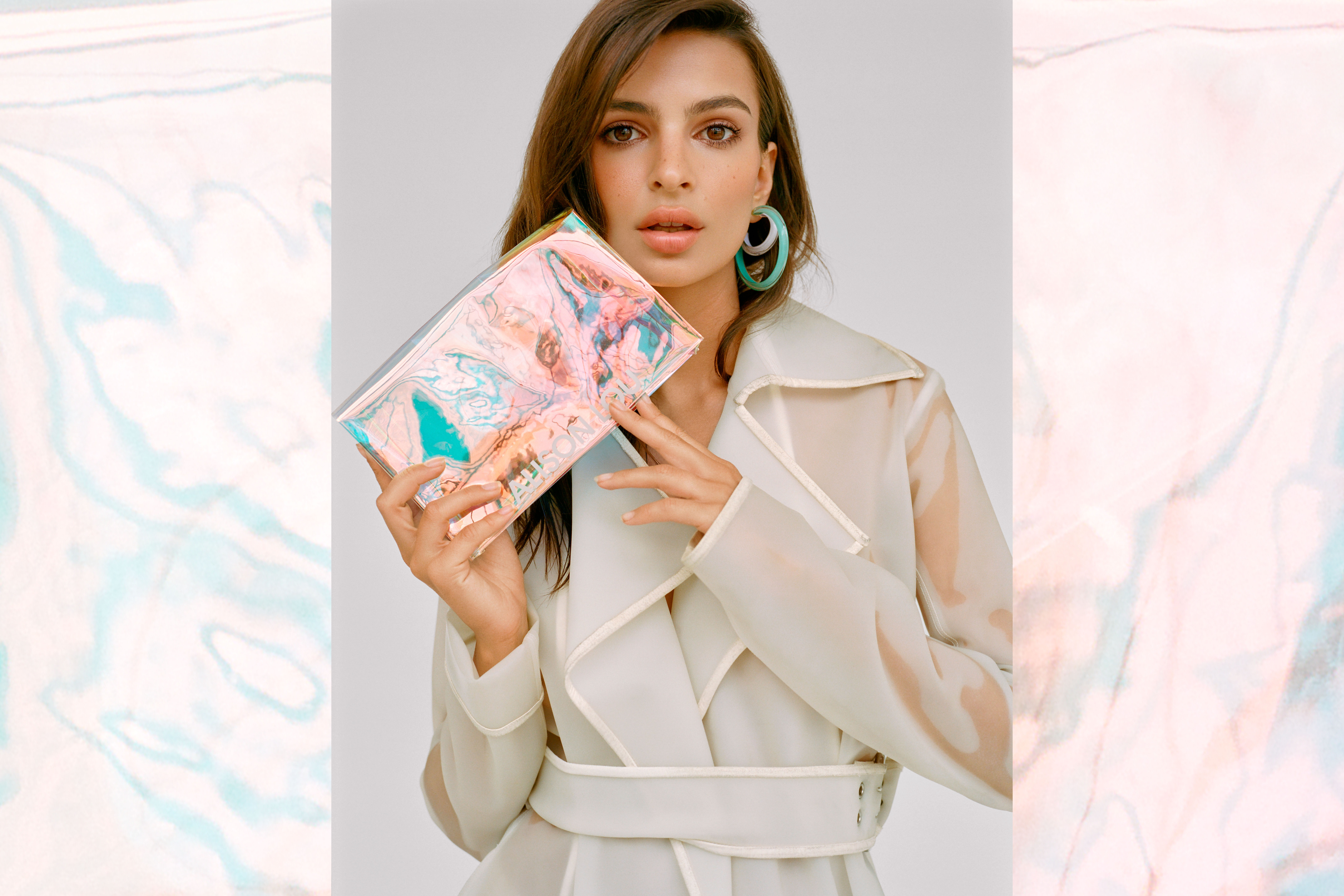 Emily Ratajkowski in the LOUCITE by Alison Lou look book