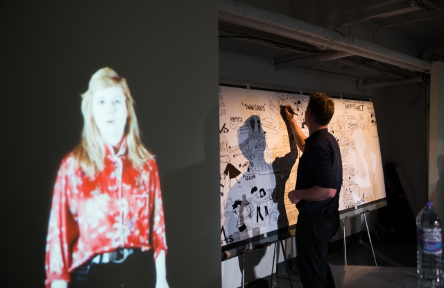 An image from the #FashionMeansBusiness exhibit