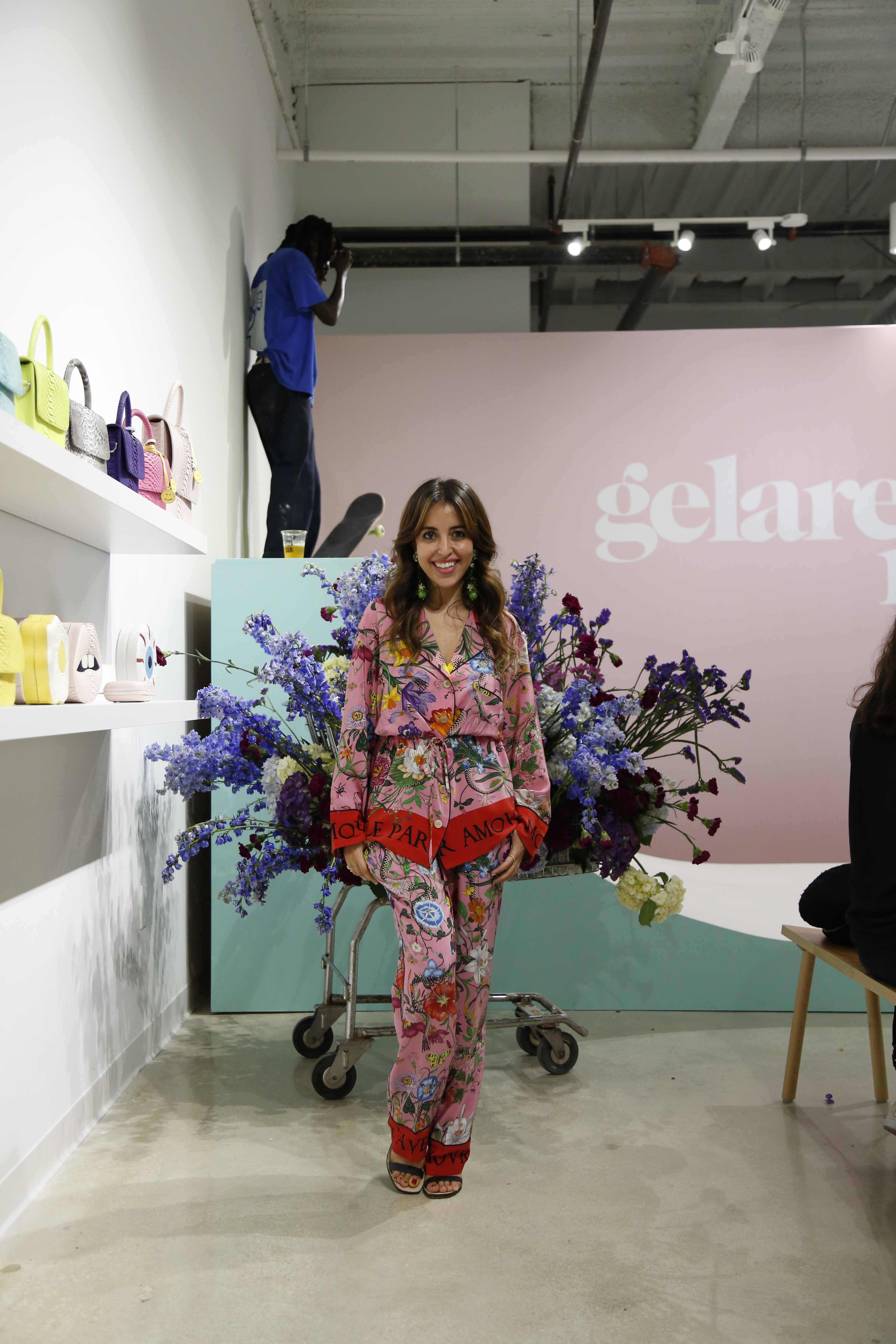 Gelareh Mizrahi in her new store in the Miami Design District.