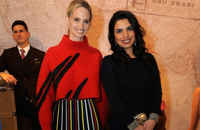 NEW YORK, NY - FEBRUARY 09:  Co-founder of Moda Operandi Lauren Santo Domingo (L) and Amina Taher attend Etihad Airways Toasts New York Fashion Week 2017 at Skylight Clarkson Sq on February 9, 2017 in New York City.  (Photo by Rabbani and Solimene Photography/WME IMG via Getty Images)