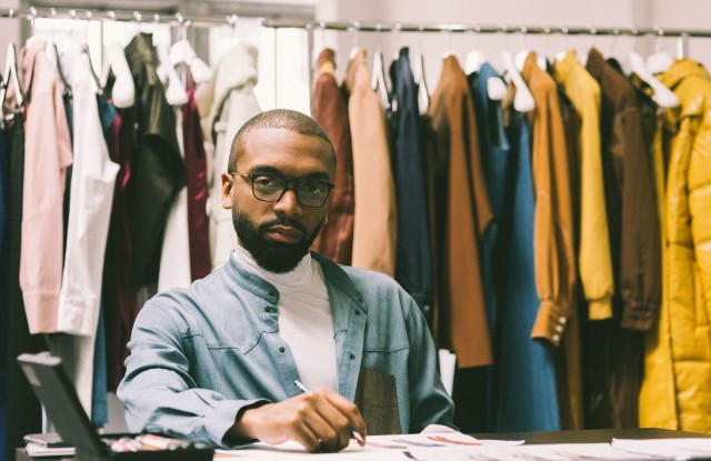 Kerby Jean-Raymond working on his capsule collection for Hennessy