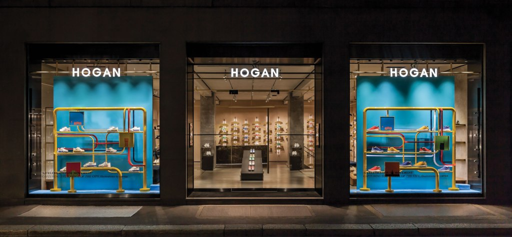 Hogan new flagship on Milan's Via Montenapoleone.