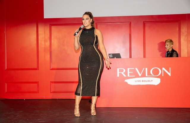Ashley Graham at Revlon's party.