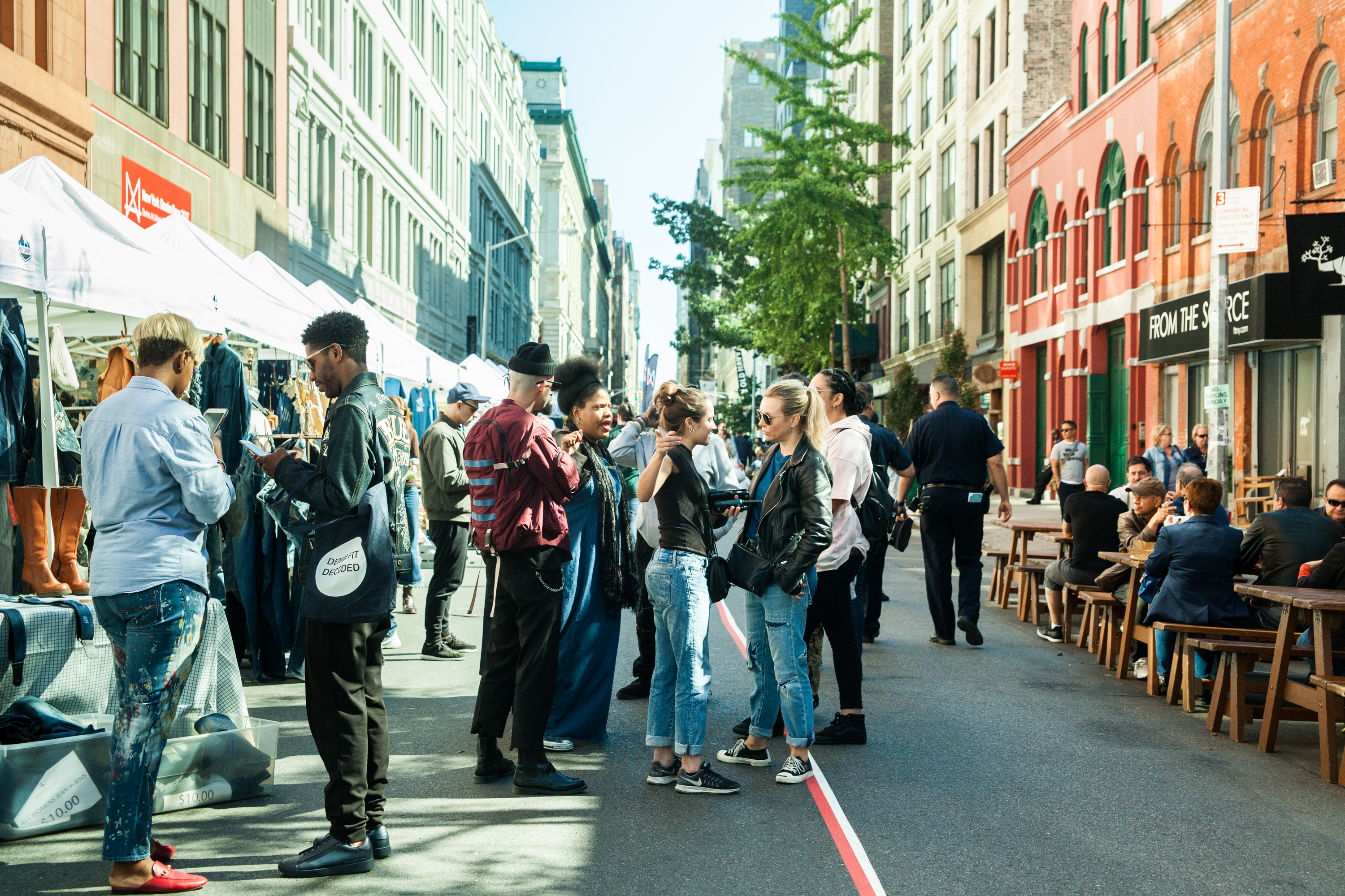 New York Denim Days includes a one-day street fair that is open to the public and features vintage dealers, artisans, food trucks and live music.