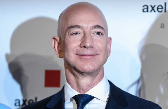 Amazon CEO Jeff Bezos attends the Axel Springer Award 2018, in Berlin, Germany, 24 April 2018. Amazon CEO Bezos, who also owns US newspaper 'Washington Post', is awarded with the Axel Springer Award. Axel Springer SE is one of the largest digital publishing houses in Europe and owner of numerous multimedia news brands.Jeff Bezos receives the Axel Springer Award, Berlin, Germany - 24 Apr 2018