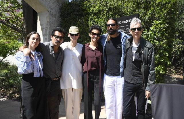 Delfina Delettrez, Haider Ackermann, Farida Khelfa, Tilda Swinton, Ben Gorham and Jefferson Hack on jury duty in Hyères.