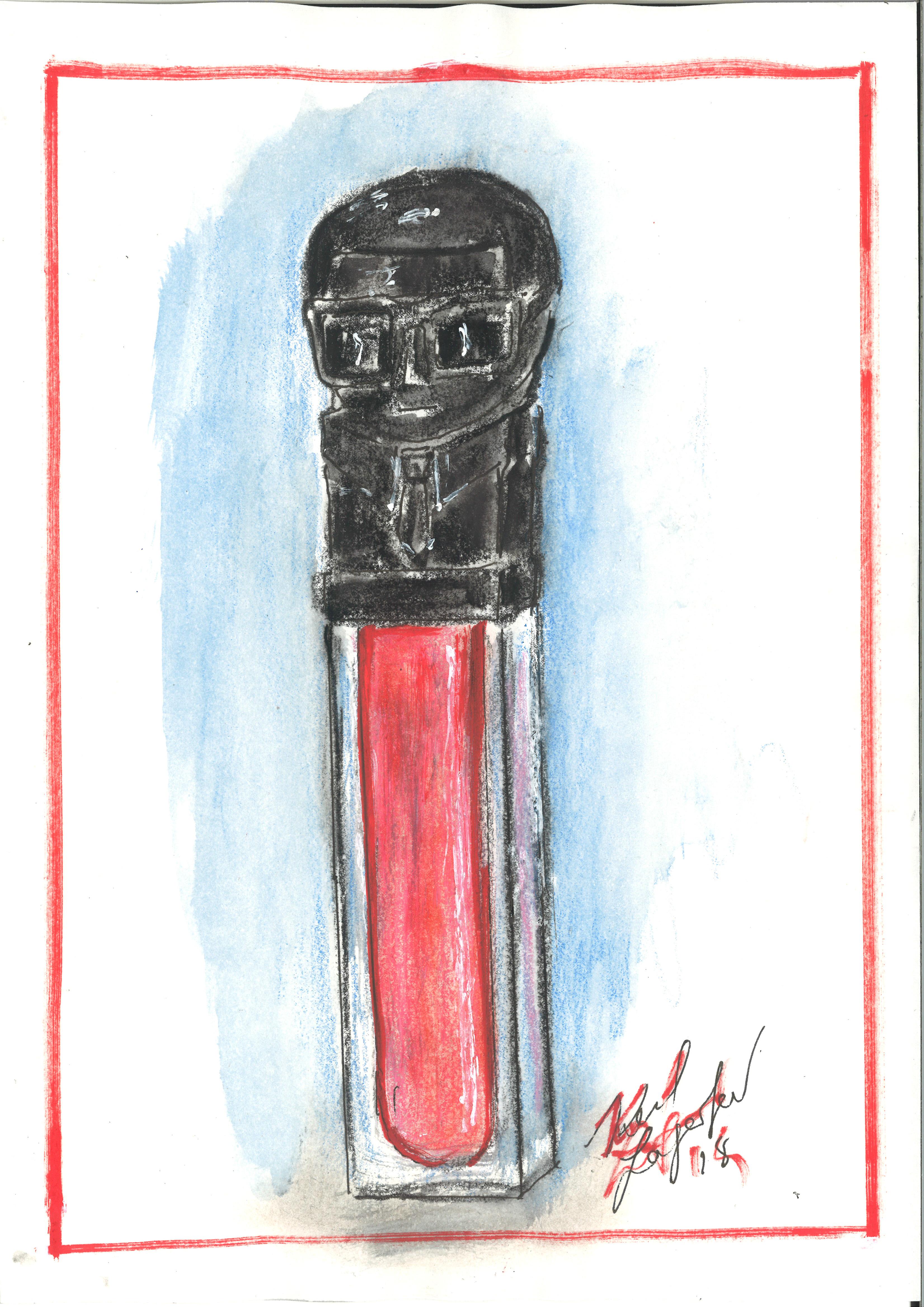 Karl Lagerfeld's sketch