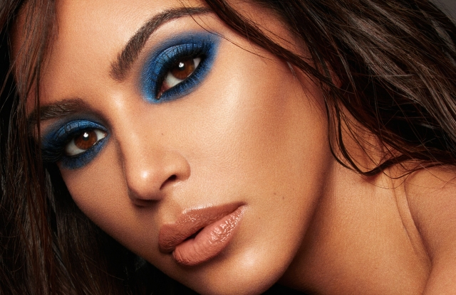 An image from the KKW x Mario makeup collection campaign.