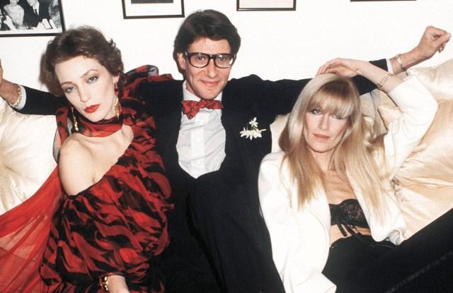Loulou de la Falaise, Saint Laurent and Betty Catroux in 1978.
