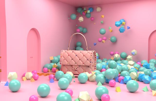 A Valentino Garavani Candystud bag for Tmall's Luxury Pavilion.