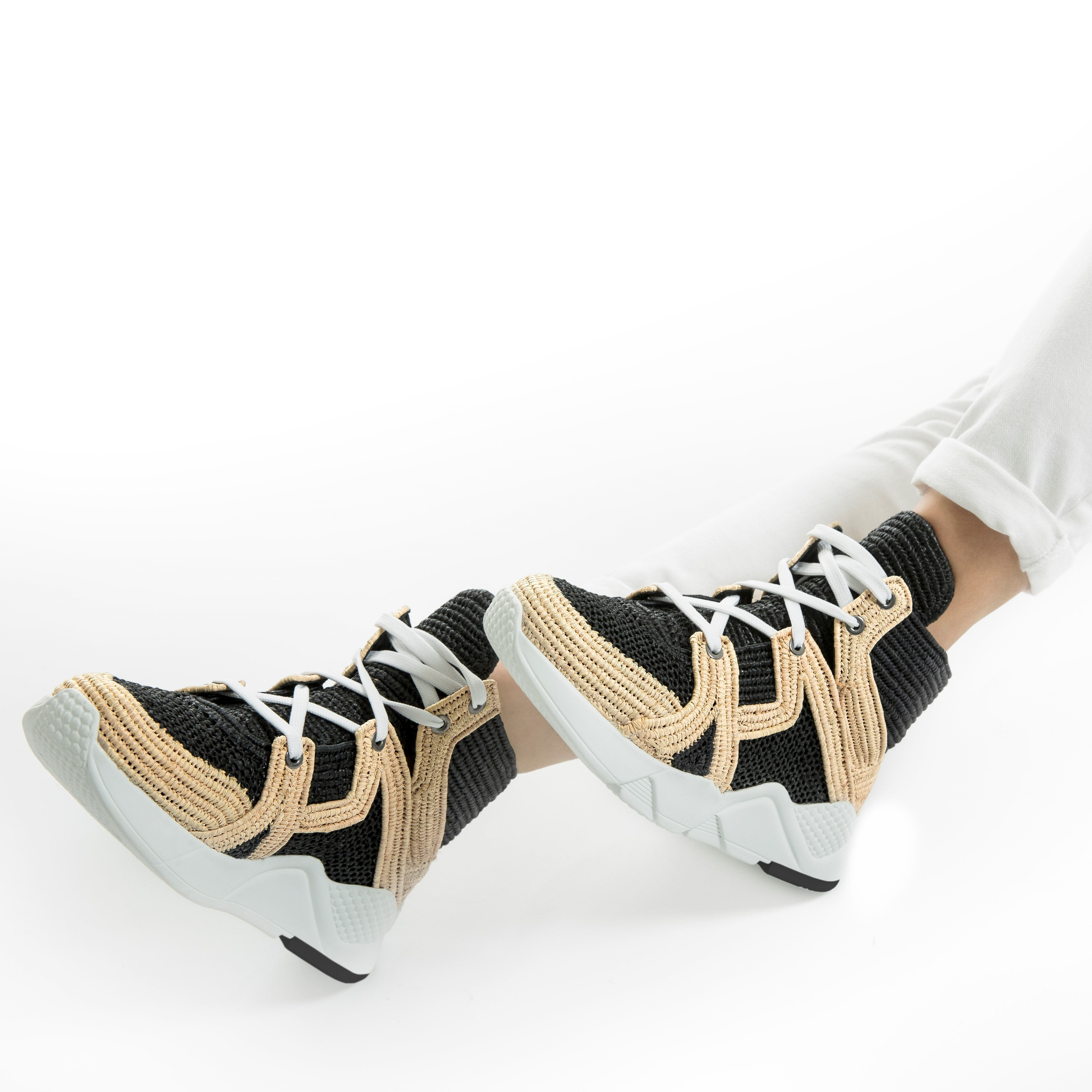 The exclusive Clergerie raffia sneaker.
