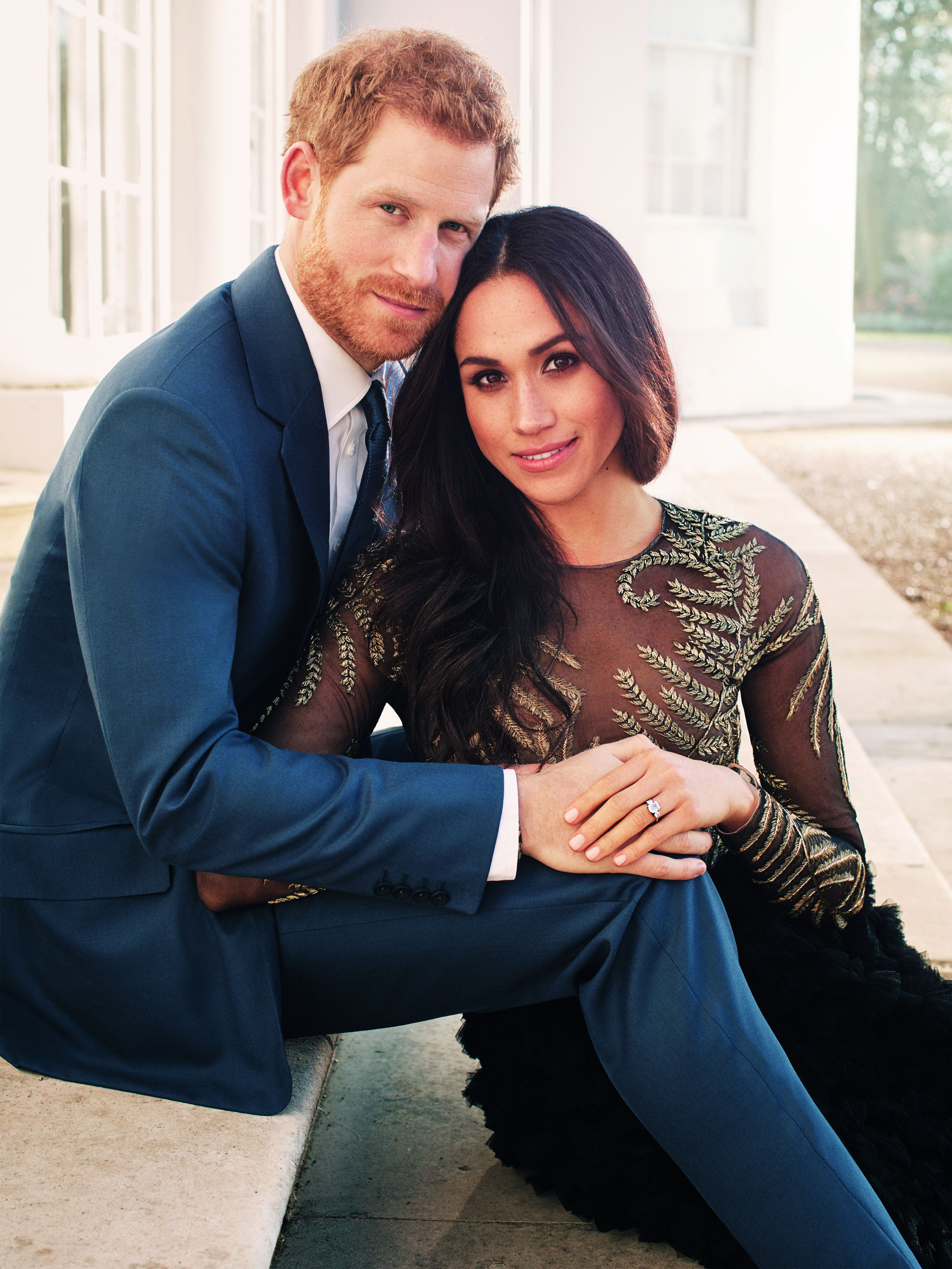 Photo credit must read: Alexi Lubomirski HANDOUT EDITORIAL USE ONLY/NO SALESMandatory Credit: Photo by Alexi Lubomirski/HANDOUT/EPA-EFE/REX/Shutterstock (9299315b)A handout photo made available on 21 December 2017 shows one of two official engagement photos released by Kensington Palace of Britain's Prince Harry (L) and his fiancee, US actress Meghan Markle taken by British-born fashion photographer Alexi Lubomirski earlier this week at Frogmore House, near Windsor Castle, west of London, Britain. The royal couple are due to marry on 19 May 2018.ATTENTION EDITORS: Terms of release, which must be included and passed-on to anyone to whom this image is supplied: USE AFTER 31/05/2018 must be cleared by Kensington Palace. This photograph is for editorial use only. NO commercial use. NO use in calendars, books or supplements. Use on a cover, or for any other purpose, will require approval from Art Partner and the Kensington Palace Press Office. There is no charge for the supply, release or publication of this official photograph. This photograph must not be digitally enhanced, manipulated or modified and must be used substantially uncropped. Copyright in the photographs is vested in Prince Harry and Ms. Meghan Markle. Publications are asked to credit the photograph to Alexi Lubomirski.Prince Harry and Meghan Markle official engagement portraits, Windsor, United Kingdom - 21 Dec 2017