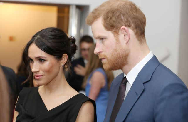 Meghan Markle in Black Halo and Prince Harry attend the Women's Empowerment.