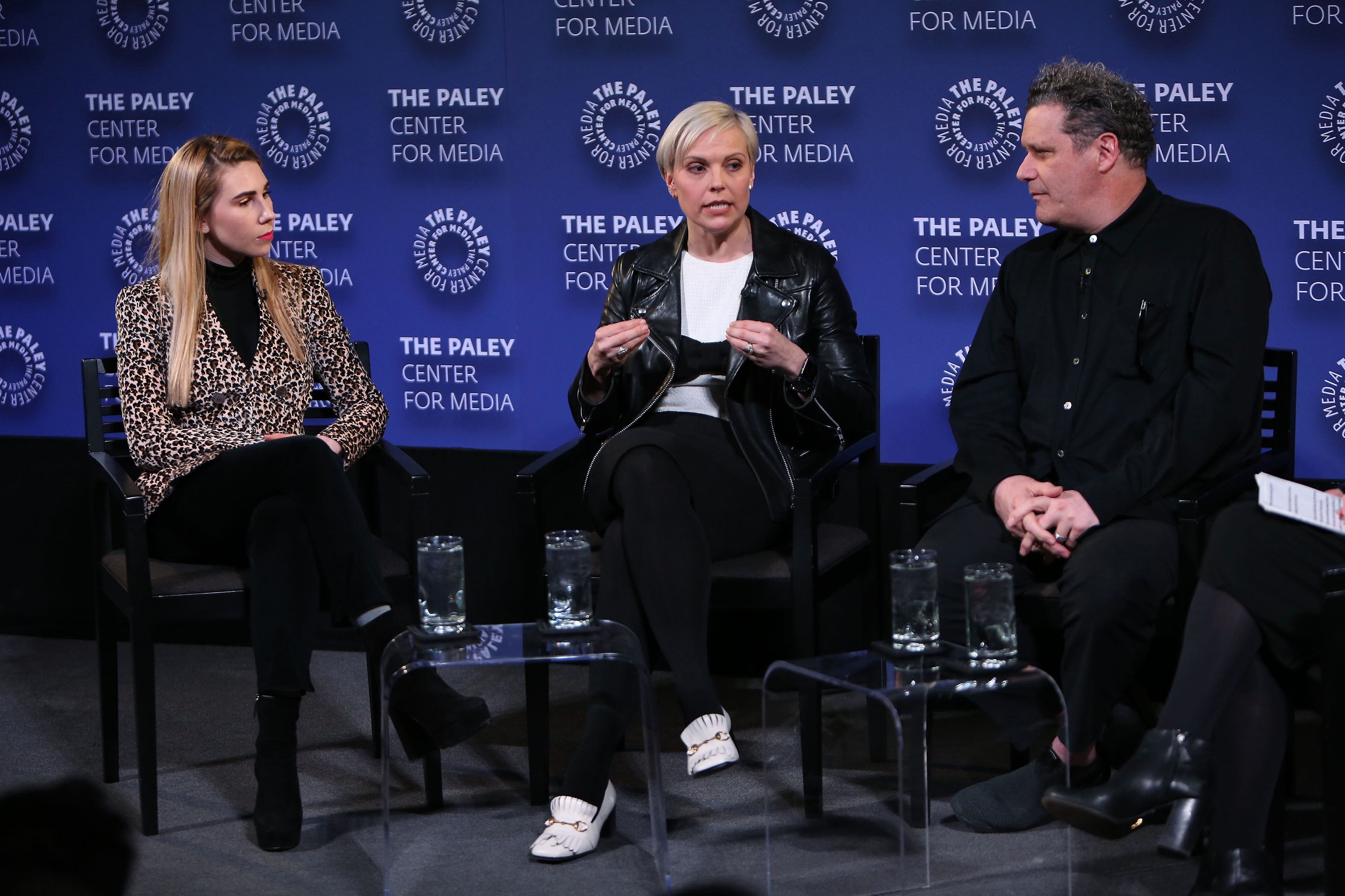 - New York, NY - 4/5/18 - PaleyLive NY: Ready-to-Watch: TV and Fashion-Pictured: Zosia Mamet, Jenn Rogien, Isaac Mizrahi-Photo by: Patrick Lewis/Starpix-Location: The Paley Center for Media