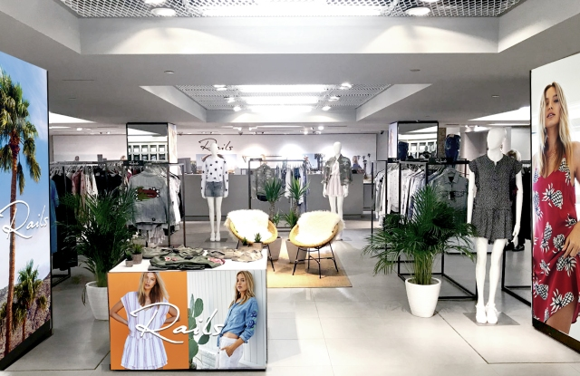 The Rails pop-up at Harrods