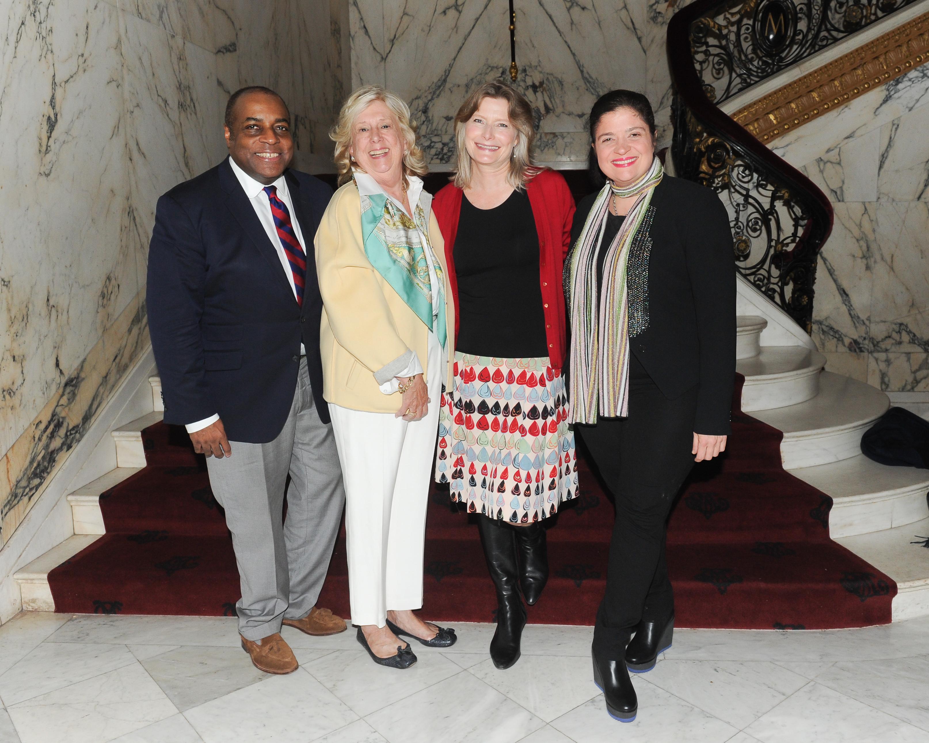 Jeffrey Banks, Linda Fairstein, Jennifer Egan and Alex Guarnaschelli at the Metropolitan Club.
