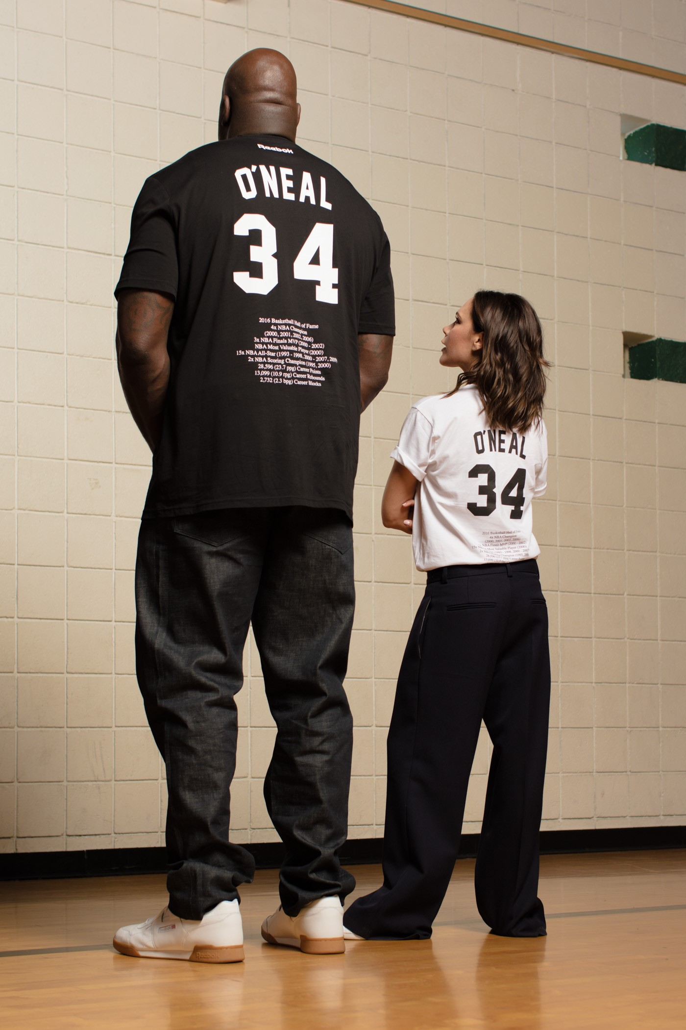 Shaquille O'Neal and Victoria Beckham