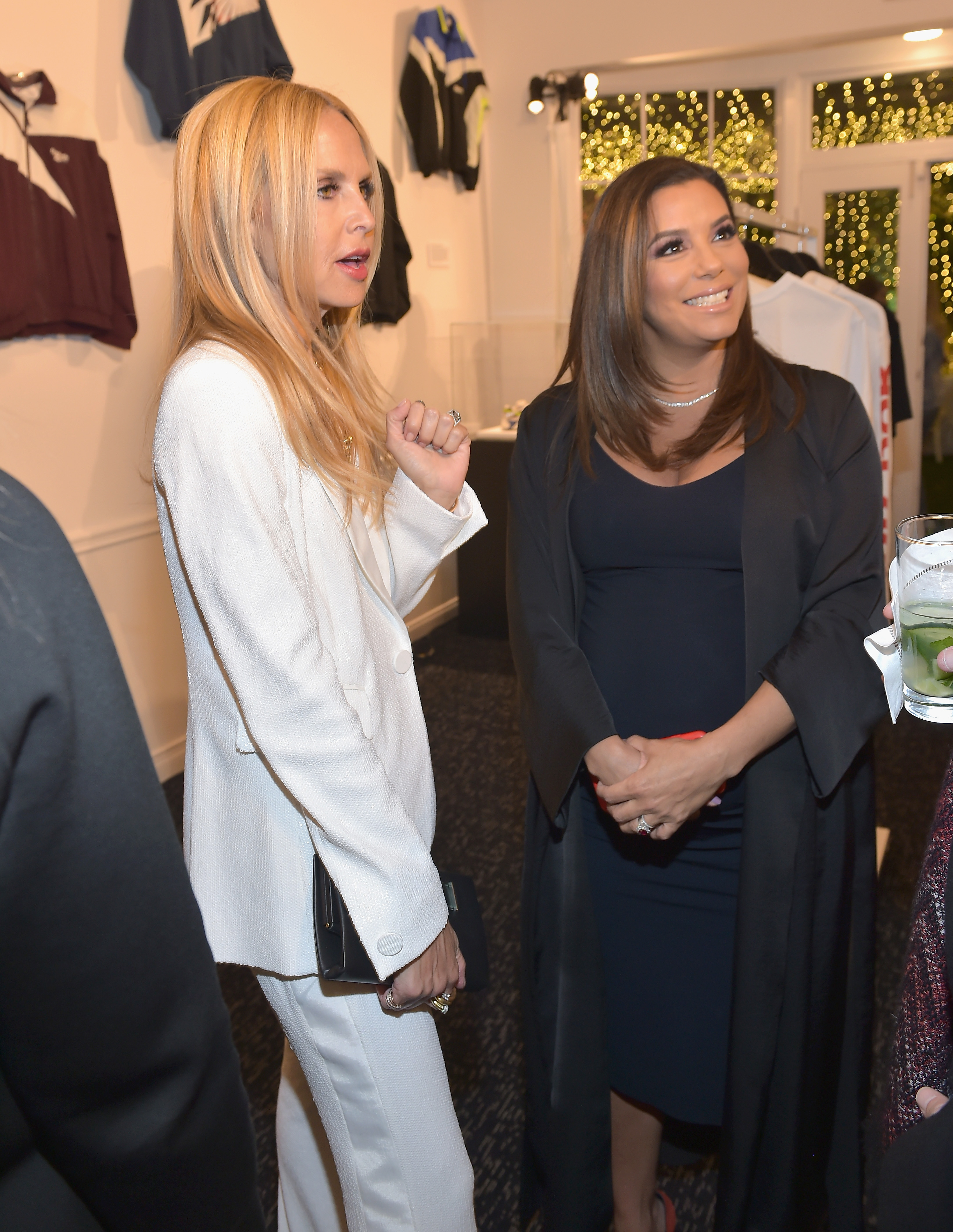Rachel Zoe and Eva Longoria attend an event celebrating Reebok and Victoria Beckham celebrate their partnership. Special guest Shaquille O'Neal officially welcomes Victoria to the Reebok Team at The House on Sunset on April 12, 2018 in Beverly Hills, California. (Photo by Donato Sardella/Getty Images for Reebok) *** Local Caption *** Rachel Zoe;Eva Longoria