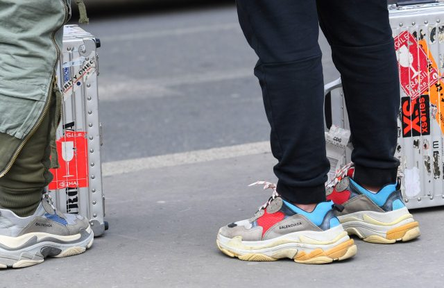 The fight broke out over Balenciaga sneakers.