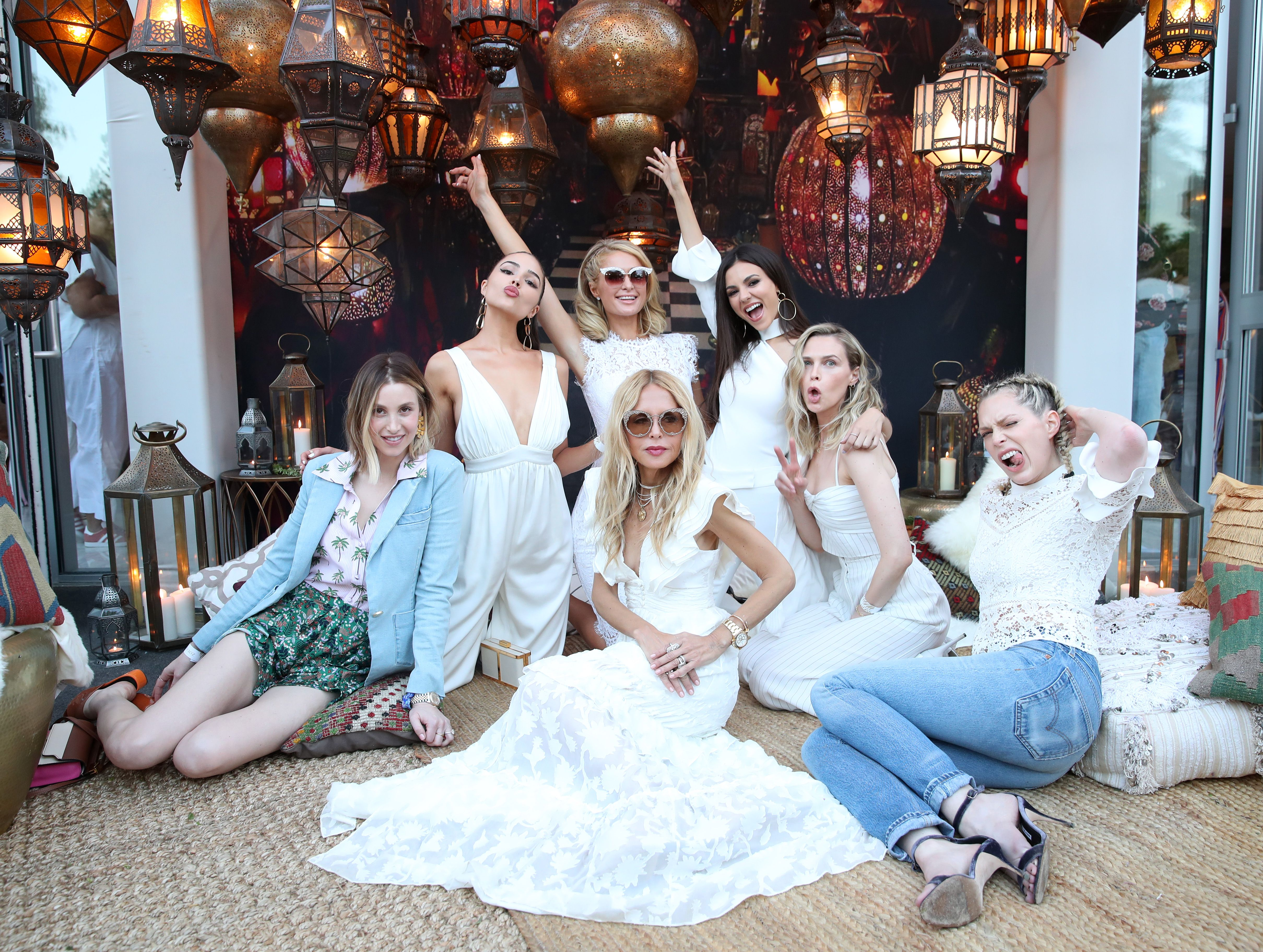 Whitney Port, Olivia Culpo, Paris Hilton, Victoria Justice, Rachel Zoe, Sara Foster and Erin FosterThe Zoe Report's 4th Annual ZOEasis, Coachella Valley Music and Arts Festival, Palm Springs, USA - 13 Apr 2018