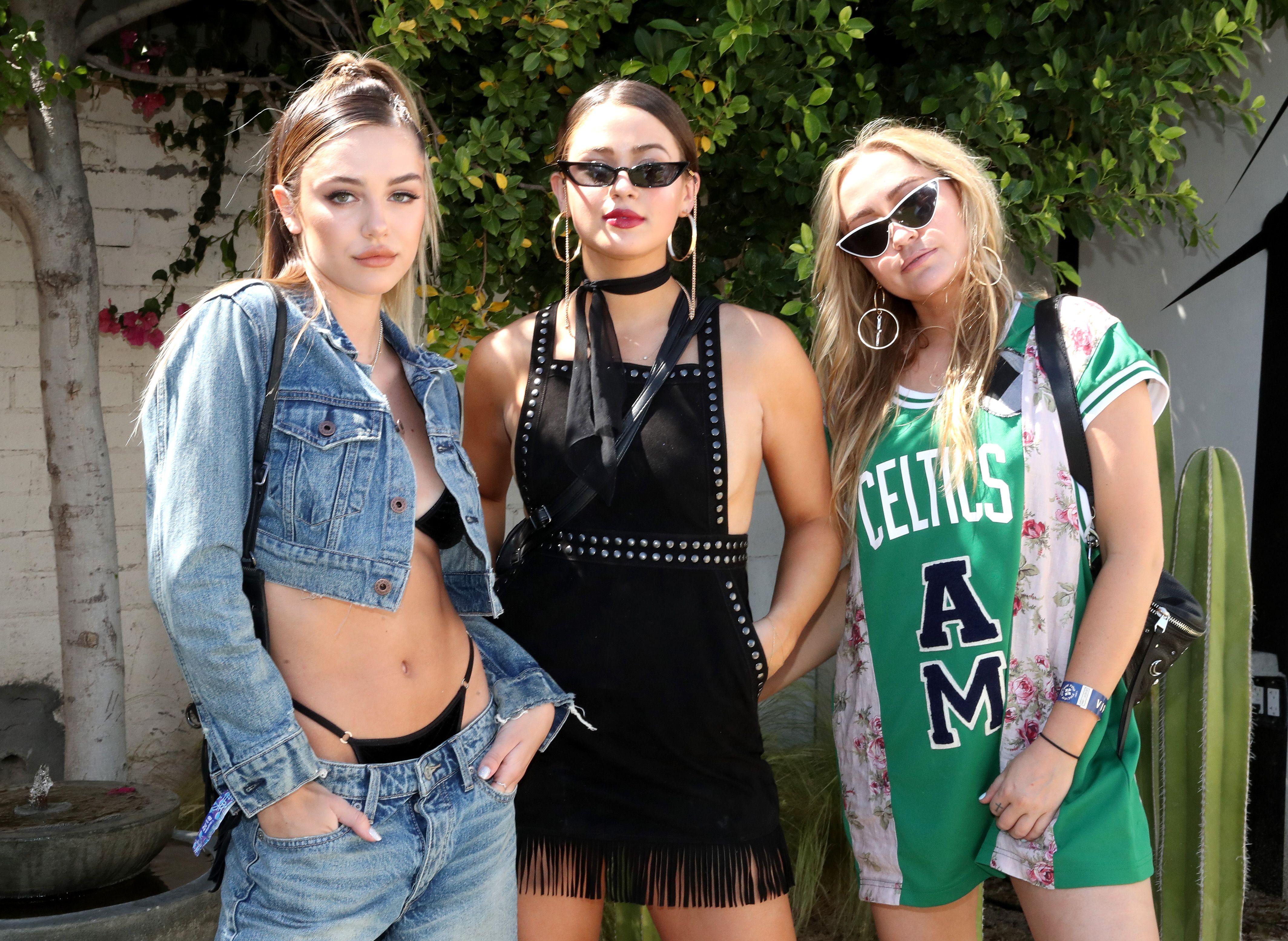 Delilah Belle Hamlin, Ella Angel and Brandi CyrusLucky Desert Jam, Coachella Valley Music and Arts Festival, Palm Springs, USA - 14 Apr 2018