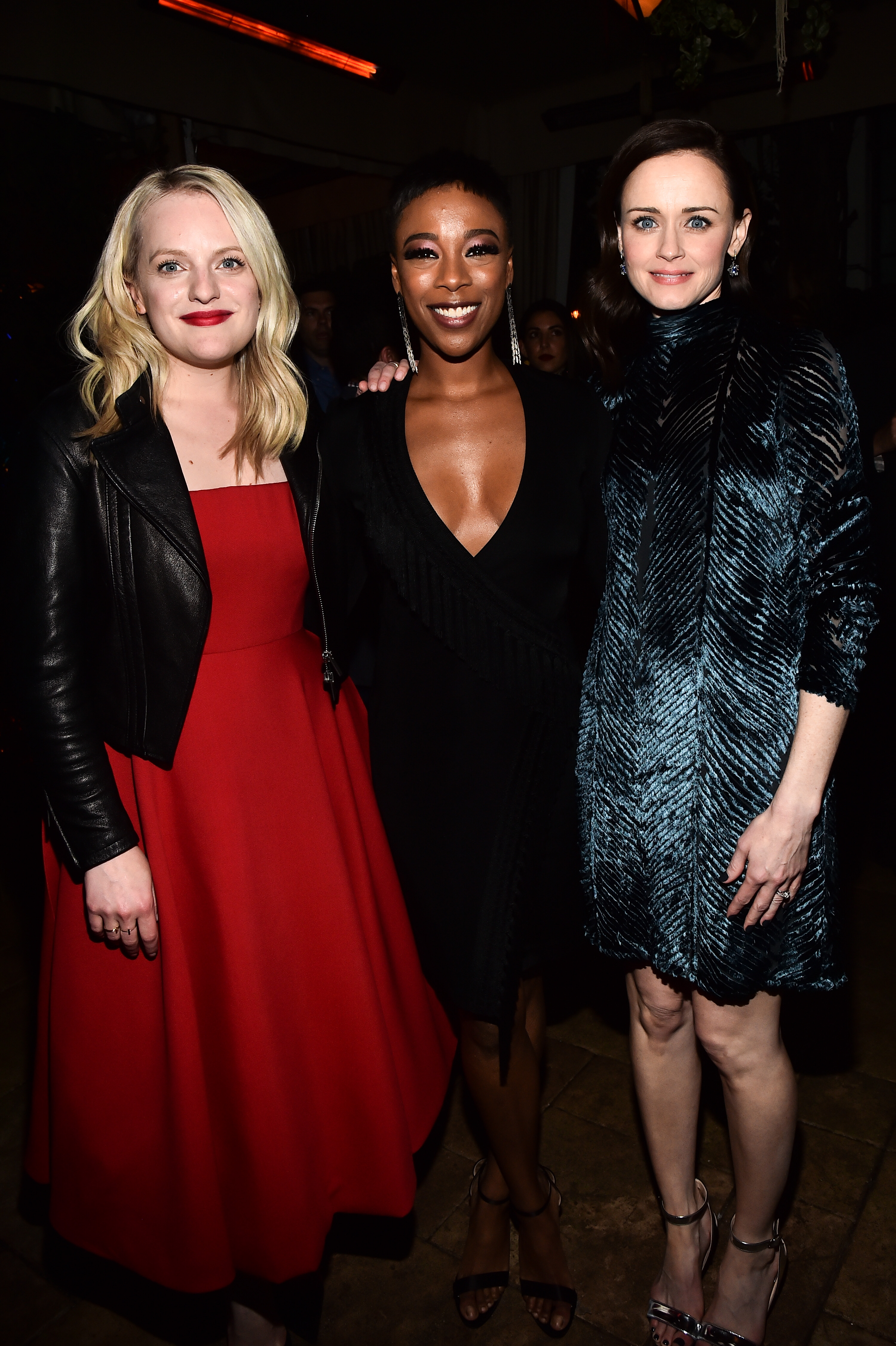 Elisabeth Moss, Samira Wiley and Alexis Bledel'The Handmaid's Tale' TV show premiere, After Party, Los Angeles, USA - 19 Apr 2018