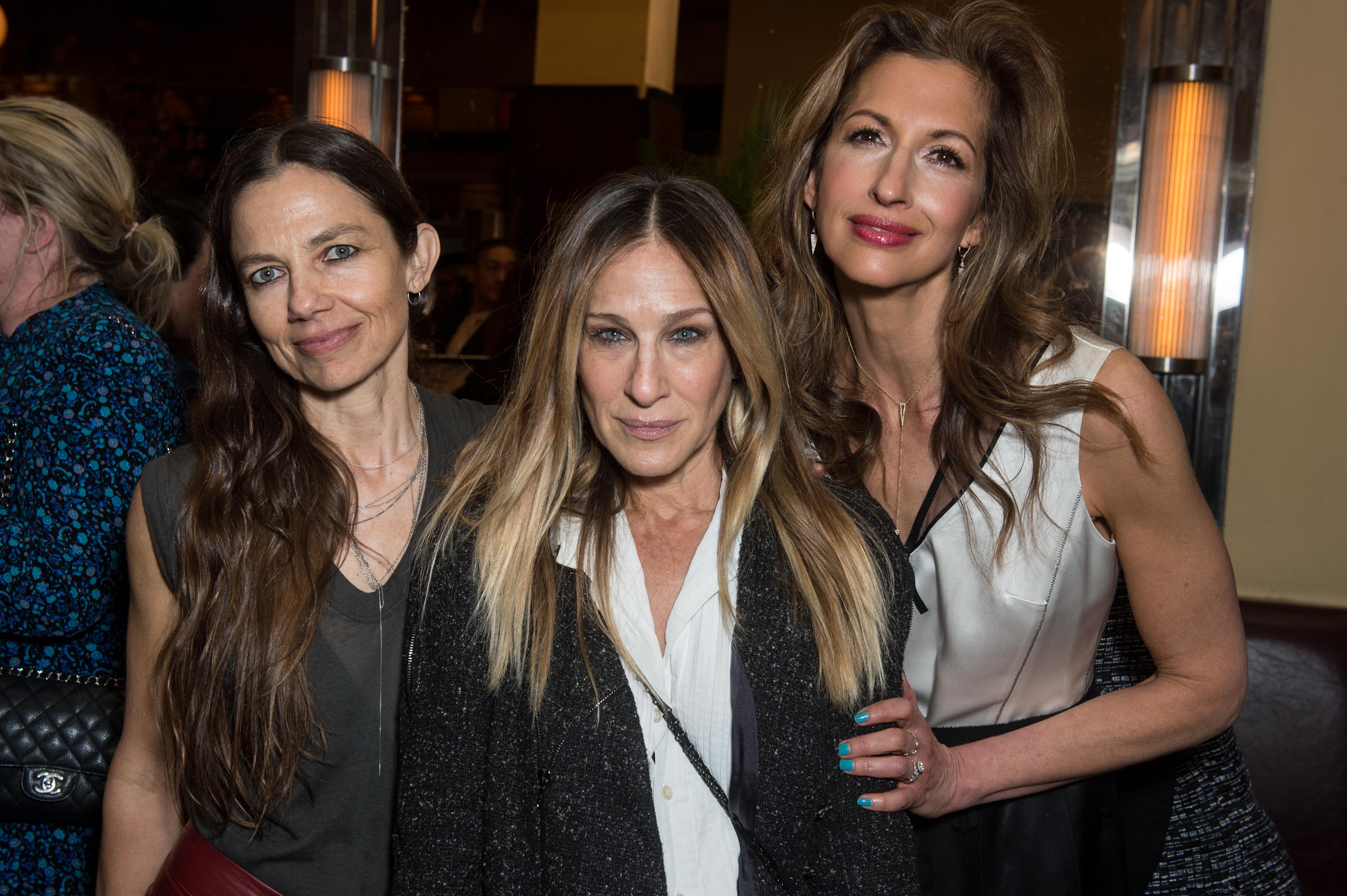 Justine Bateman, Sarah Jessica Parker, Alysia ReinerChanel x Tribeca Film Festival Women's Filmmaker luncheon, Odeon Restaurant, New York, USA - 20 Apr 2018