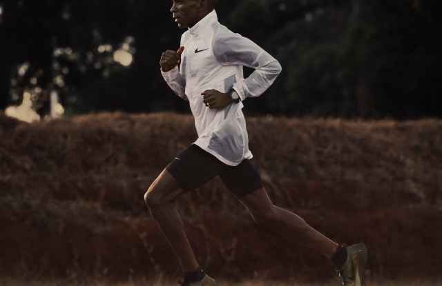 Eliud Kipchoge training in the FlyPrint shoe.