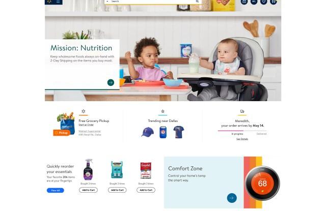 The Walmart website redesign.