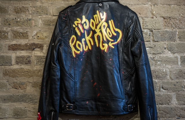 A jacket from the Rolling Stones Yellow Label range at Selfridges