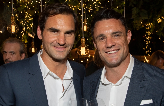 Roger Federer with Dan Carter