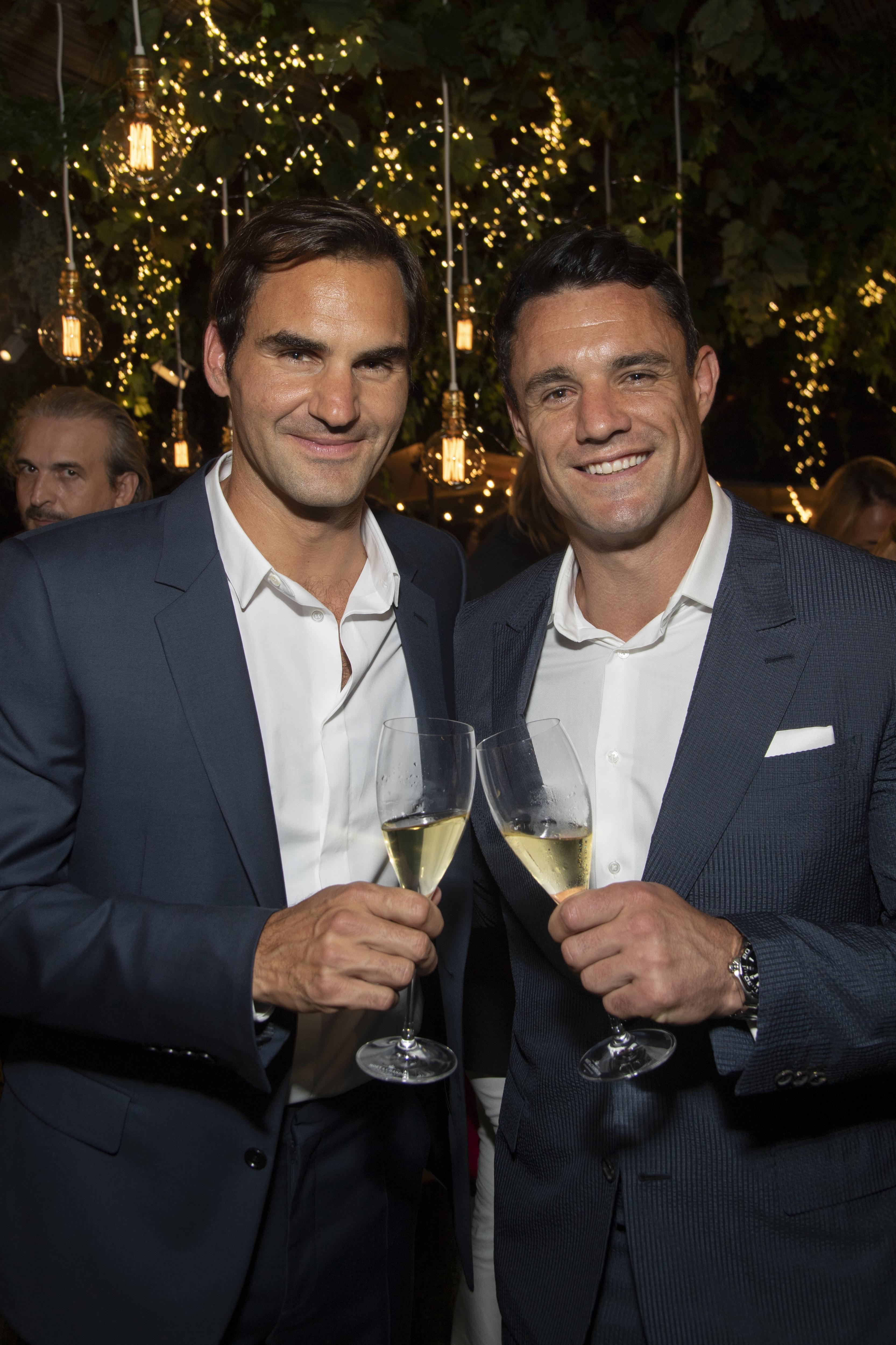 Roger Federer with Dan Carter