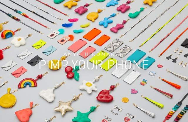 Anya Hindmarch's Pimp Your Phone charms and accessories.