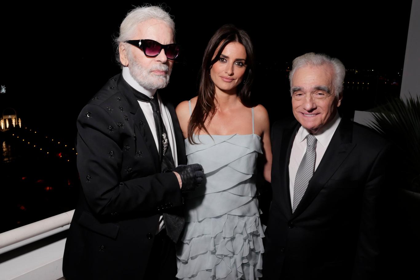 Karl Lagerfeld, Penelope Cruz and Martin Scorsese