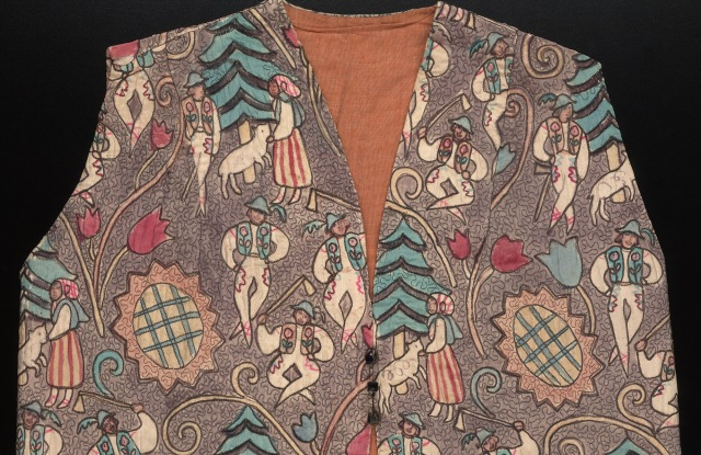 Alice B. Toklas, Bolero-style waistcoat (detail) made for Gertrude Stein. Yale Collection of American Literature, Beinecke Rare Book & Manuscript Library, Yale University.