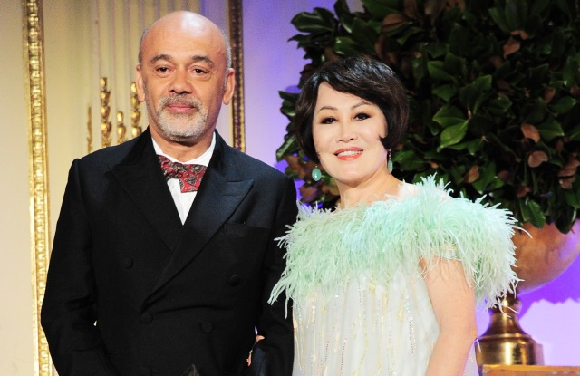 NEW YORK, NY - MAY 04:  Christian Louboutin and Yue-Sai Kan appear onstage during the 2018 China Fashion Gala at The Plaza Hotel on May 4, 2018 in New York City.  (Photo by Owen Hoffmann/Patrick McMullan via Getty Images)