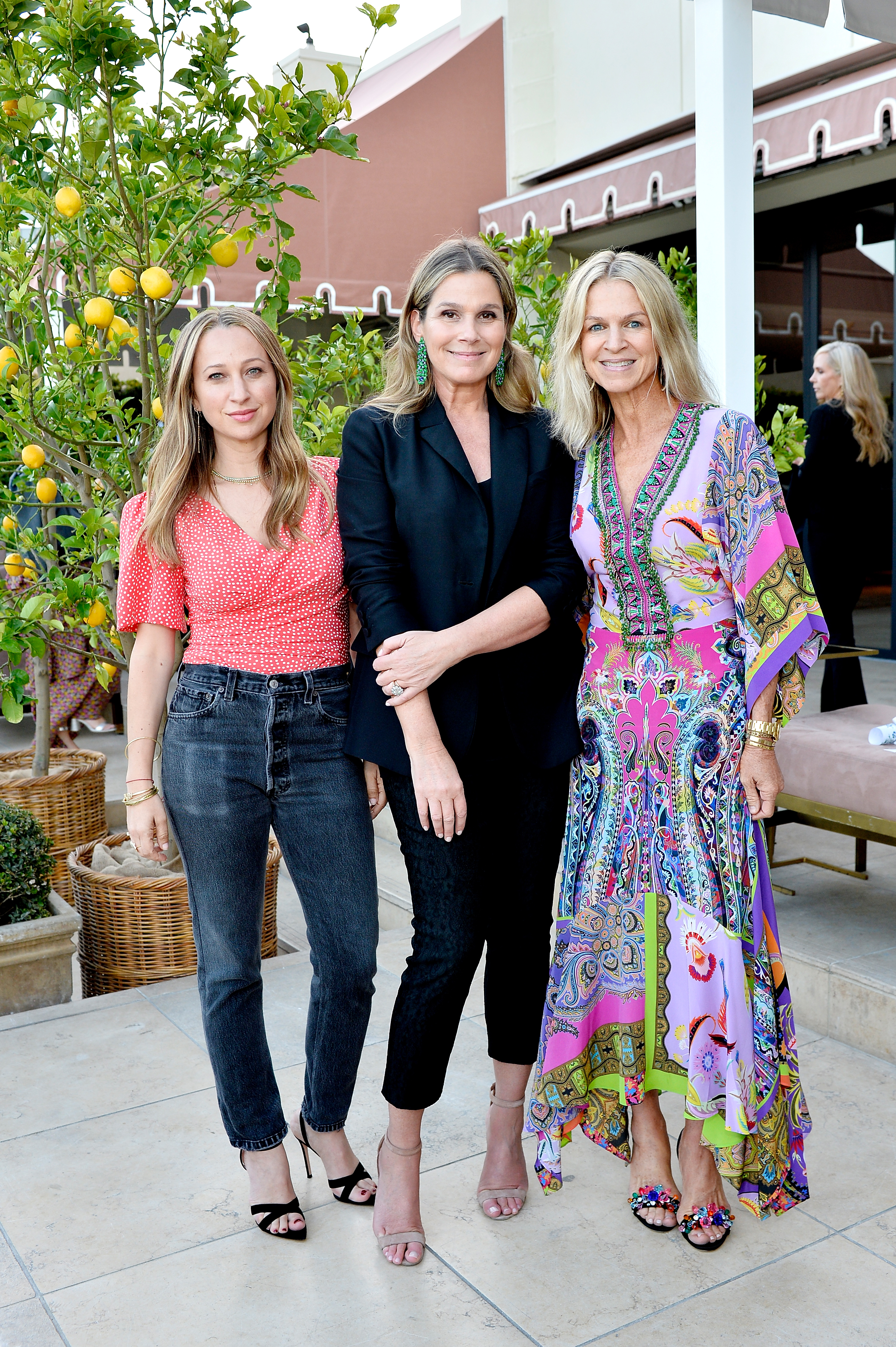 Jennifer Meyer, Aerin Lauder and Crystal Lourd attend Dinner in Celebration of the AERIN SS18 Collection by Williams Sonoma