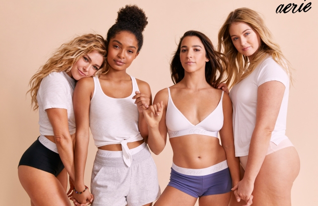 AerieReal Role Models: Rachel Platten, Yara Shahidi, Aly Raisman and Iskra Lawrence.