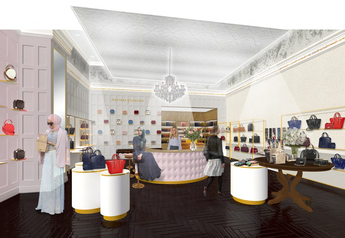 A rendering of the Aspinal of London store