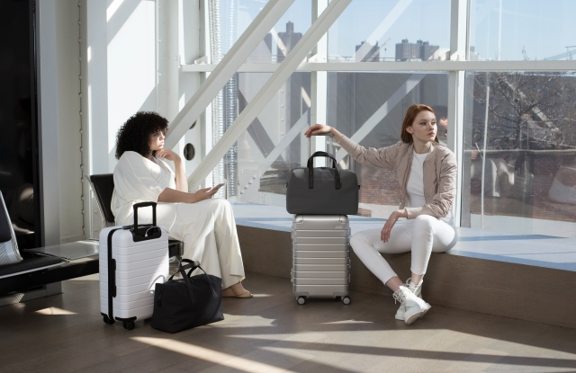 Carry-on options and the Everywhere Bag, from Away.