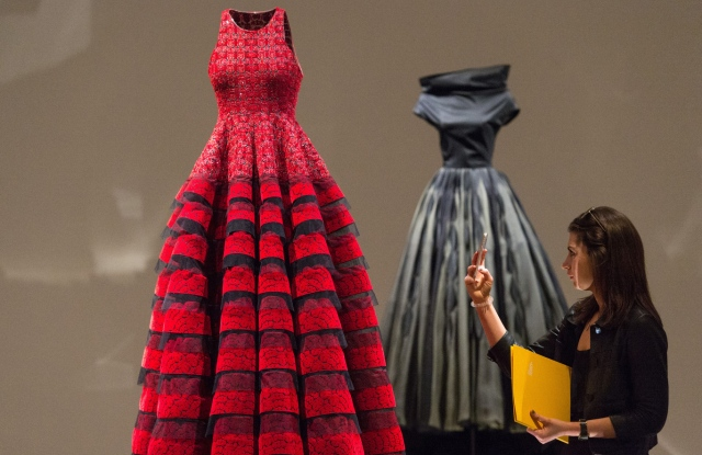 Haute couture creations by the late Azzedine Alaia are on display as part of an exhibition at London's Design Museum