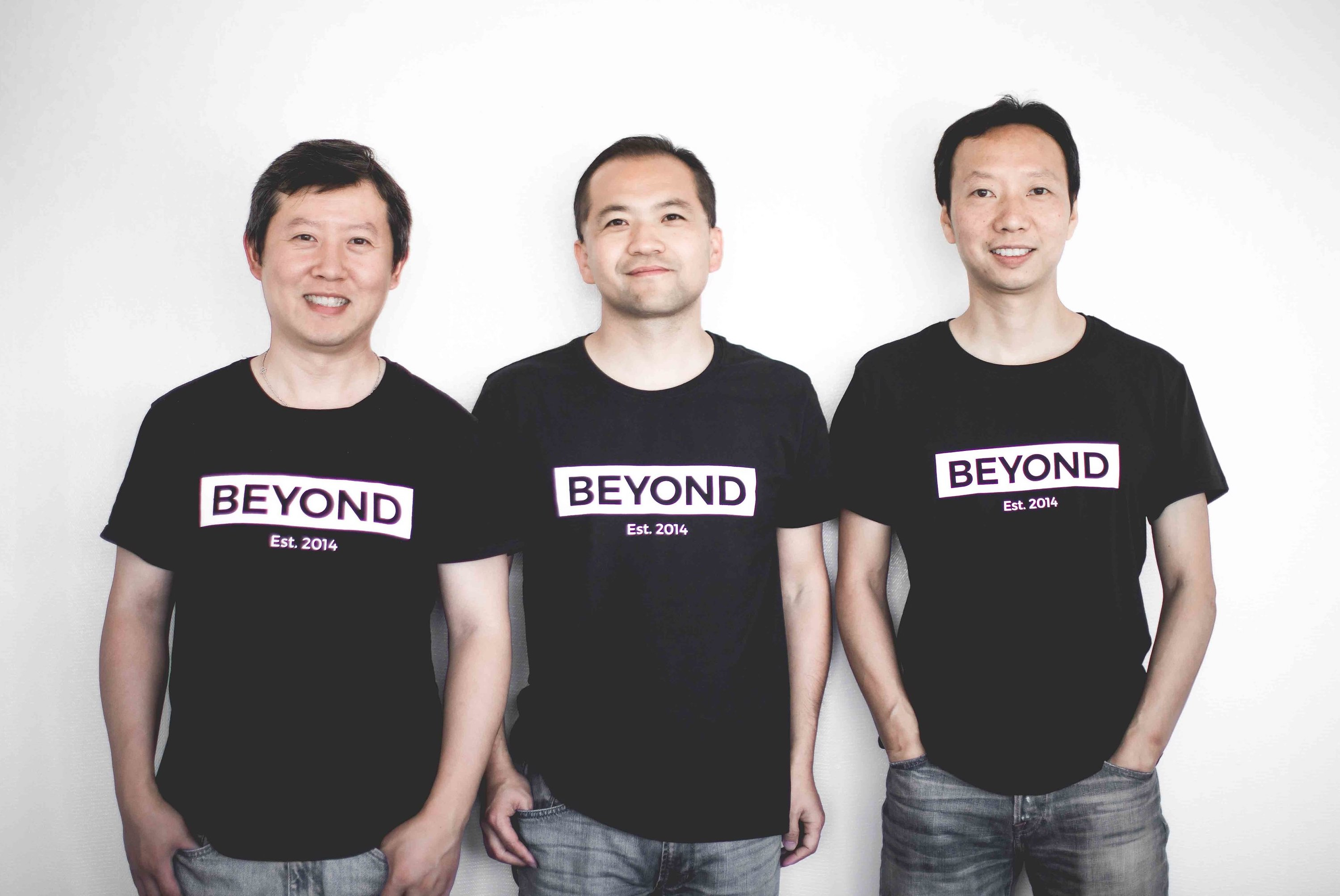 BorderX Lab cofounders, from left to right: Liu Jun, Albert Shen, and Huang Chengdu.